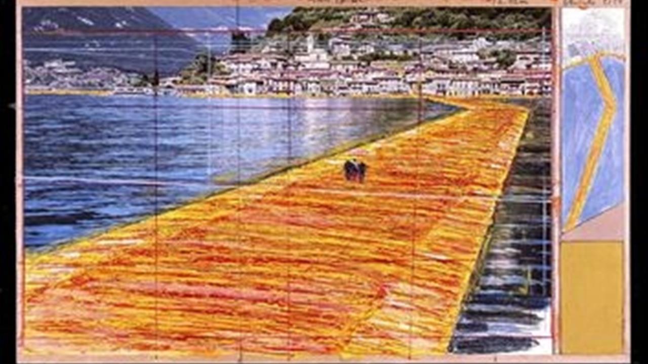 Effetto christo sul lago d 39 iseo iniziata la corsa for Casetta sul lago catskills ny