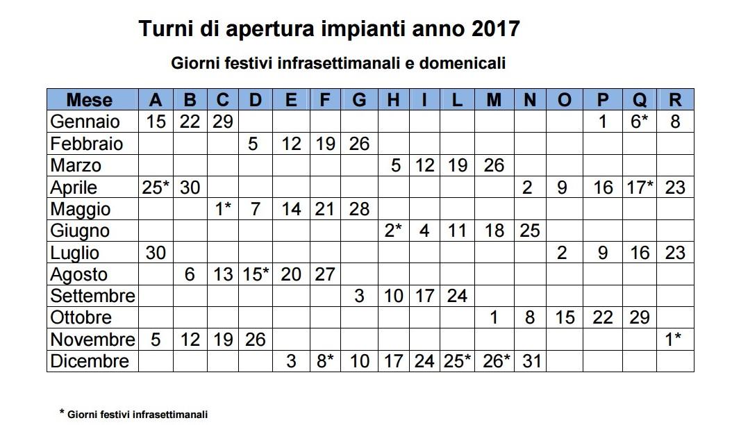 giorni festivi italia 2017