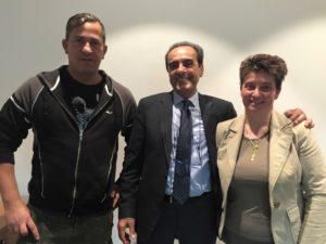 Giorgio Beltrami con i vicepresidenti Francesco Pappi e Vincenza Carissimi