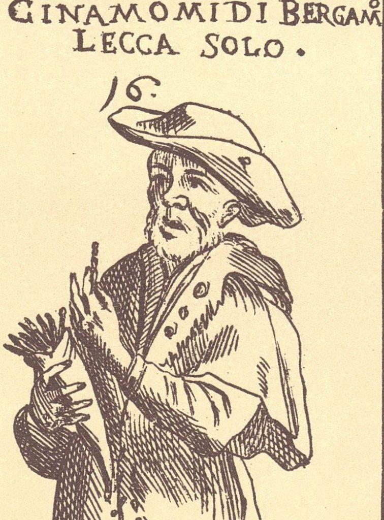 """Il """"lecca solo"""" bergamasco raffigurato nel seicentesco gioco della cuccagna"""