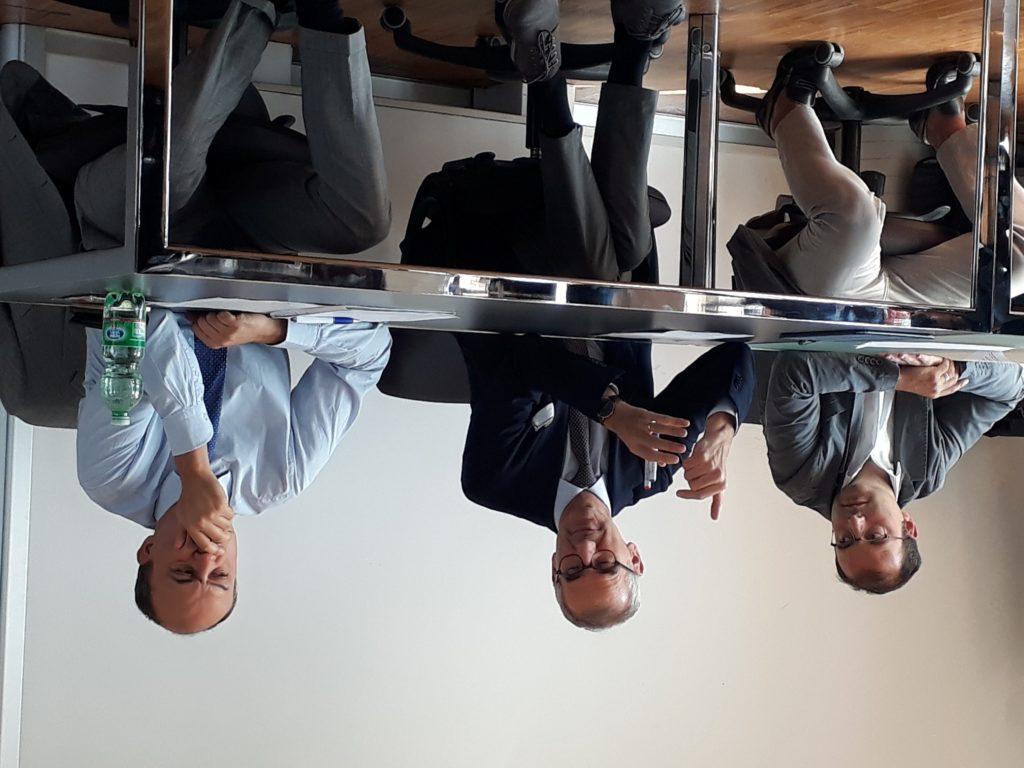 Da sinistra: Tommaso Minola, Lucio Cassia e Sergio Cavalieri