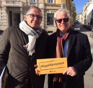 Il questore Girolamo Fabiano (a destra) con il direttore dell'Ascom Oscar Fusini