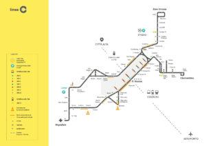 Mappa della Linea C