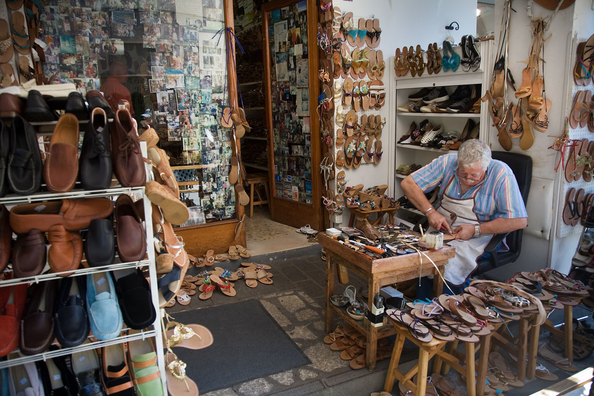 Shoemaker workshop. Capri, Italy.