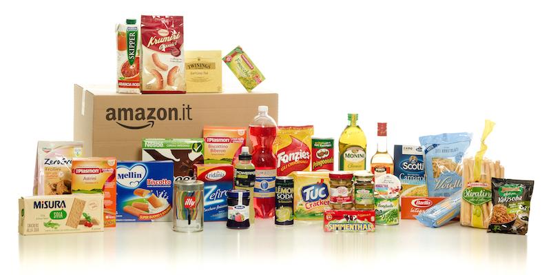 Alimentari e casa, ora la spesa si fa anche su Amazon
