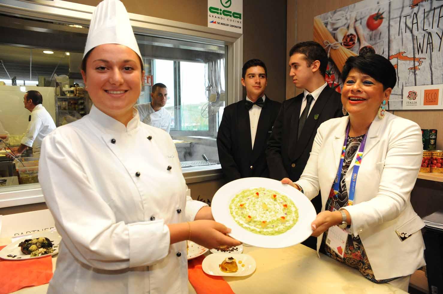 Elisa Zanella e il suo piatto
