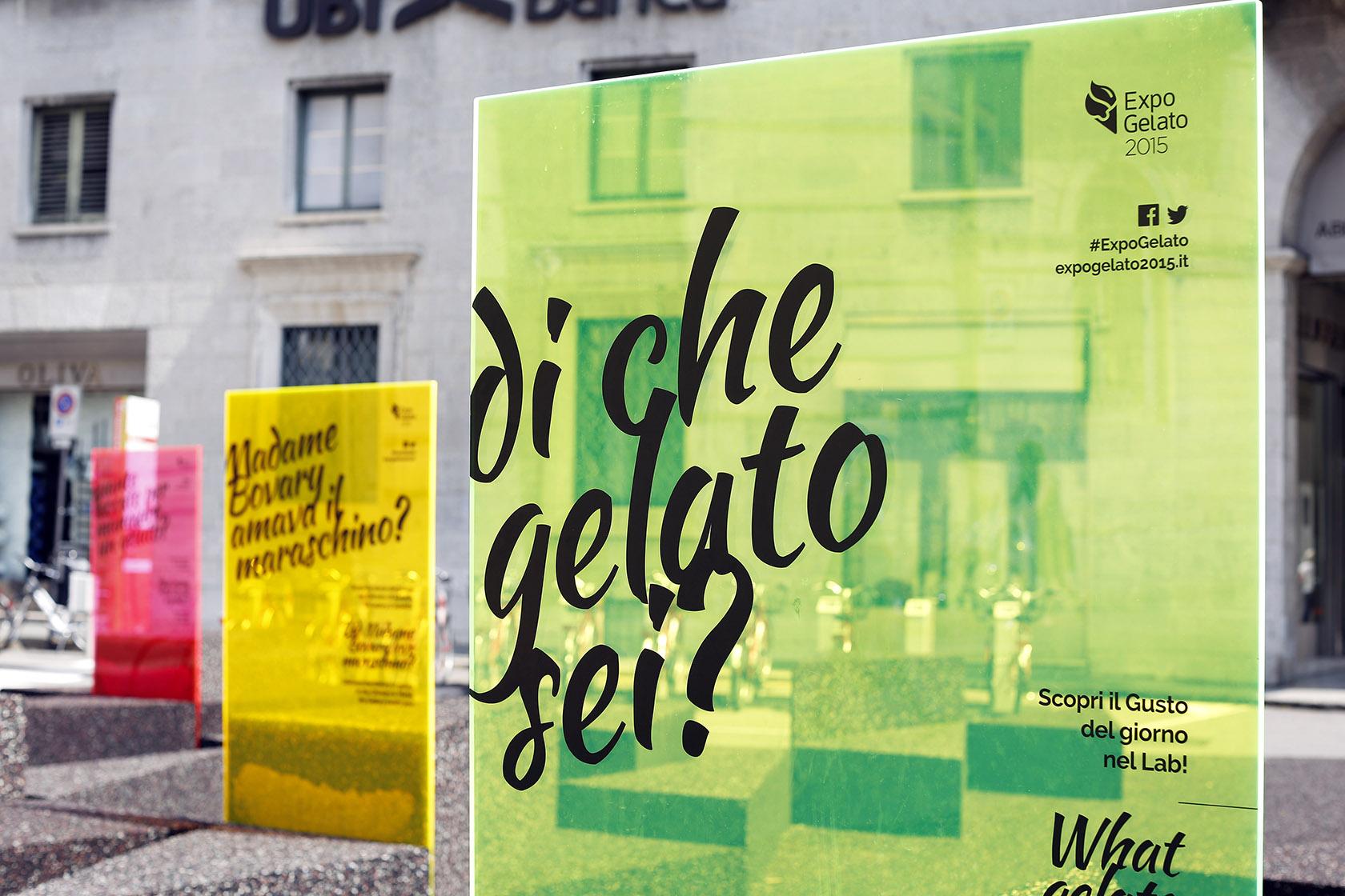 L'allestimento di ExpoGelato nel centro di Bergamo dello scorso anno