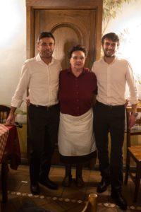 Andrea e Marco Cornoldi con la zia Alessandra Offredi