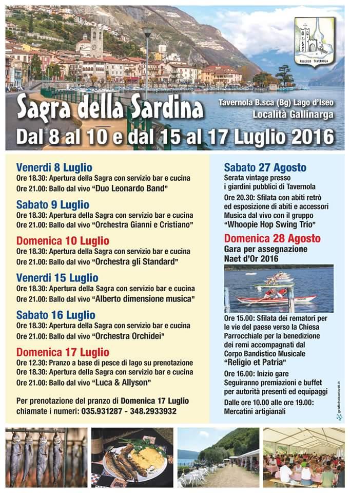 sagra sardina tavernola - programma 2016