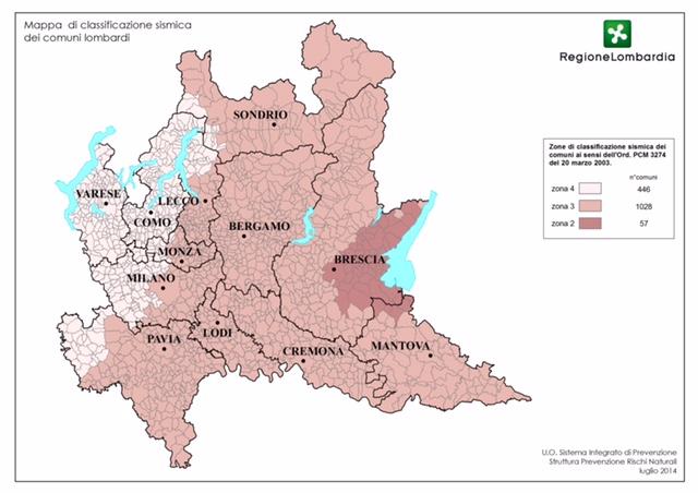 mappa rischio sismico lombardia