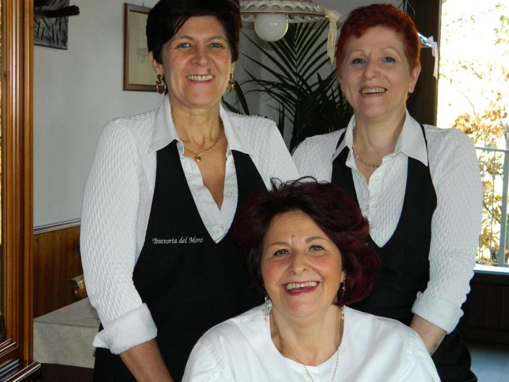 da sinistra, Bianca Licini, Giuliana e Iosette Carenini