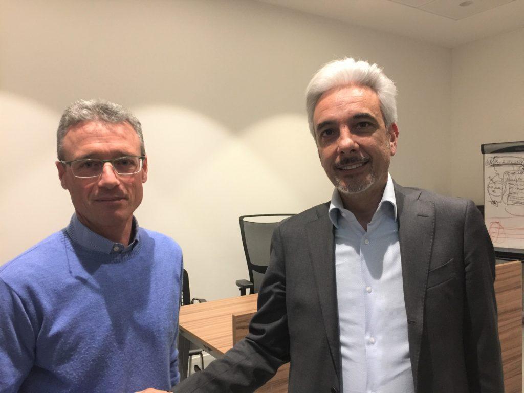 Il neopresidente Renato Mora e l'uscente Giuseppe Milazzo