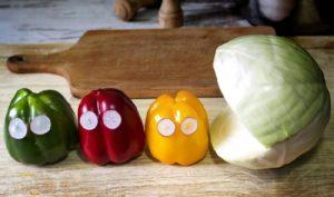 verdure bambini divertenti