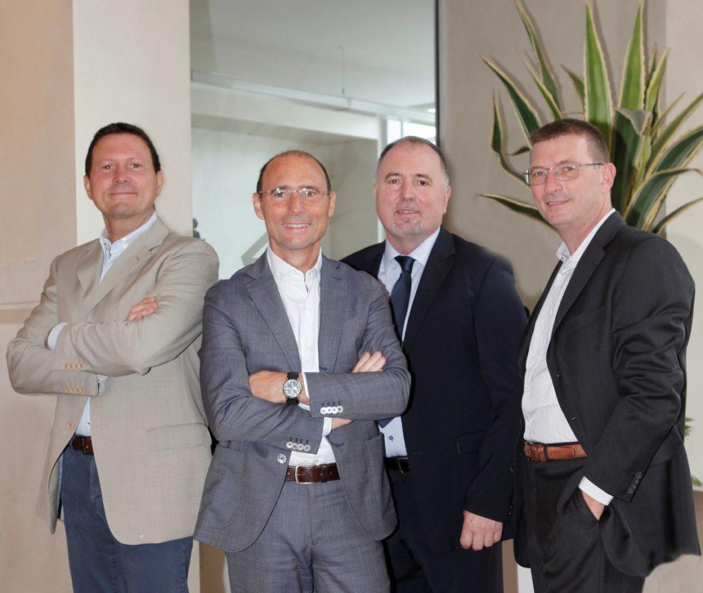 I fratelli Rota. Da sinistra, Luca, Giampietro, Maurizio ed Enrico