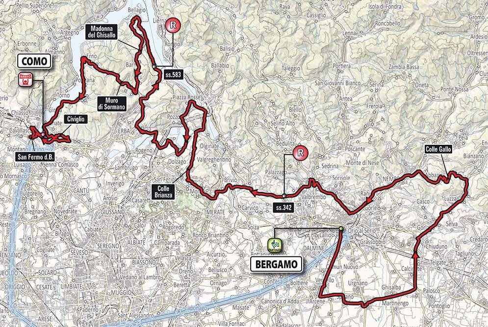 Giro di Lombardia - il percorso 2017